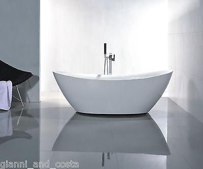 Bathroom Acrylic Free Standing Bath Tub 1800 x 860 x 650 - FREESTANDING