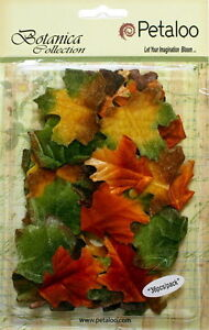 VELVET-Fabric-FALL-Colours-Mix-36-LEAVES-Approx-between-30x45mm-Petaloo-1161-300