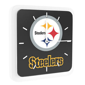 48ae730b Details about New 3 in 1 NFL Pittsburgh Steelers Home Office Decor Wall  Desk Magnet Clock 6