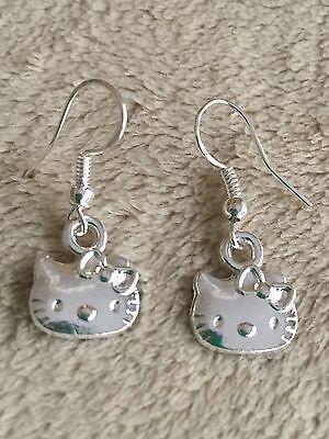 Cute New Tibetan Silver Dragonfly Charm Dangle Drop Earrings w//Silver Ear Wires