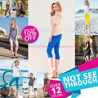 Womens 3/4 Length Leggings Capri Cropped Summer 100% Genuine Cotton High Quality