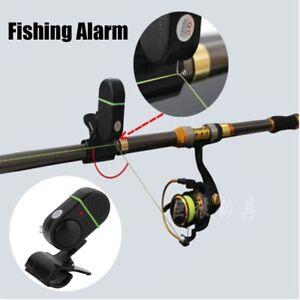 Elektronische-LED-Licht-Fischbiss-Sound-Alarm-Glocke-Clip-auf-Angelrute-Schwarz