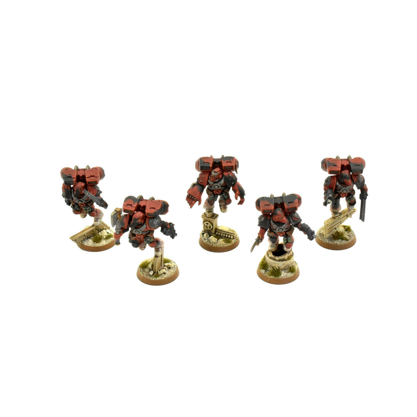 SPACE MARINES 5 vanguard veteran squad assault PRO PAINTED Red Scorpions army