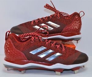 bb539d31d8b9 Adidas PowerAlley 5 TPU Red & White Baseball & Softball Cleats Sz 8 ...