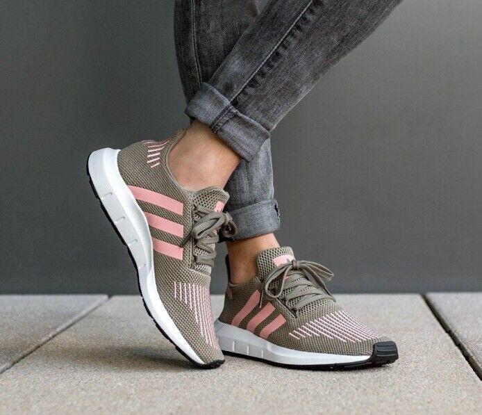 Adidas Women's Swift Run Trace Cargo/Trace Pink Sneakers CG4142 Sz 11