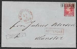 Netherlands covers 1869 10c folded letter NR SPOORWEG to Münster