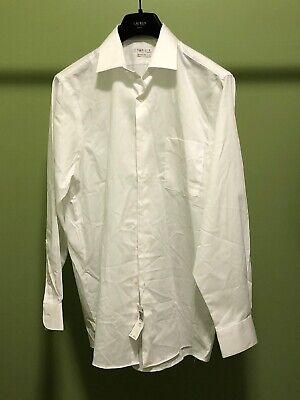 Van Heusen Men/'s Dress Shirt 17 35//36 Tall Medieval Green No Iron Sateen Lux New