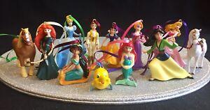 DISNEY-Princess-amp-Amici-BELLE-Ariel-Set-di-12-DECORAZIONI-ALBERO-DI-NATALE