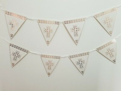 8 FLAG First Holy Communion Bunting Garland Party ware Banner Decorations