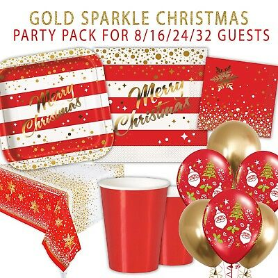 40 pcs Christmas Paper Lunch Napkins GLITTERING GOLDEN Baubles Merry Christmas