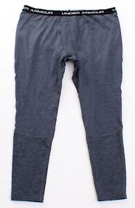 419ea60646e7a3 Under Armour Coldgear Gray UA Base 4.0 Base Layer Fitted Leggings ...