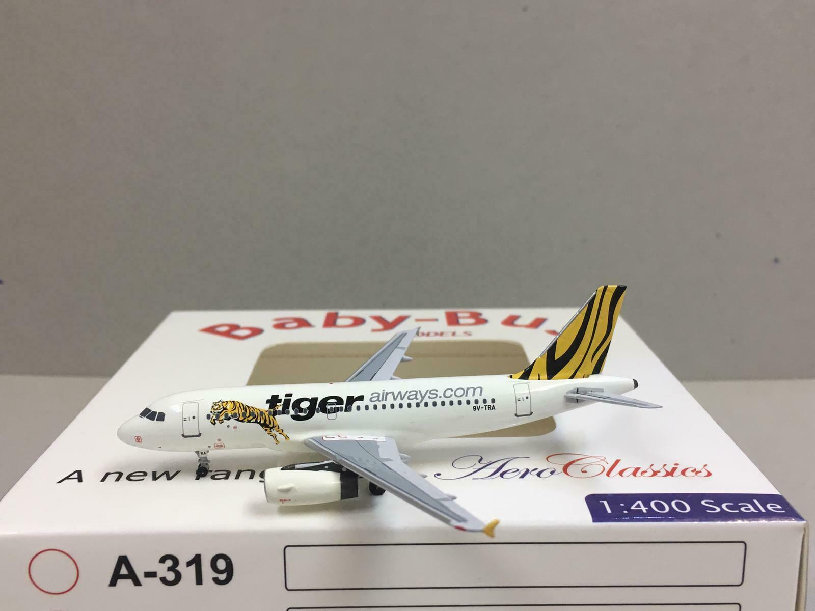 Aeroclassics 1 1 1 400 Tiger Airways AIRBUS A319-100 9V-TRA b55dba