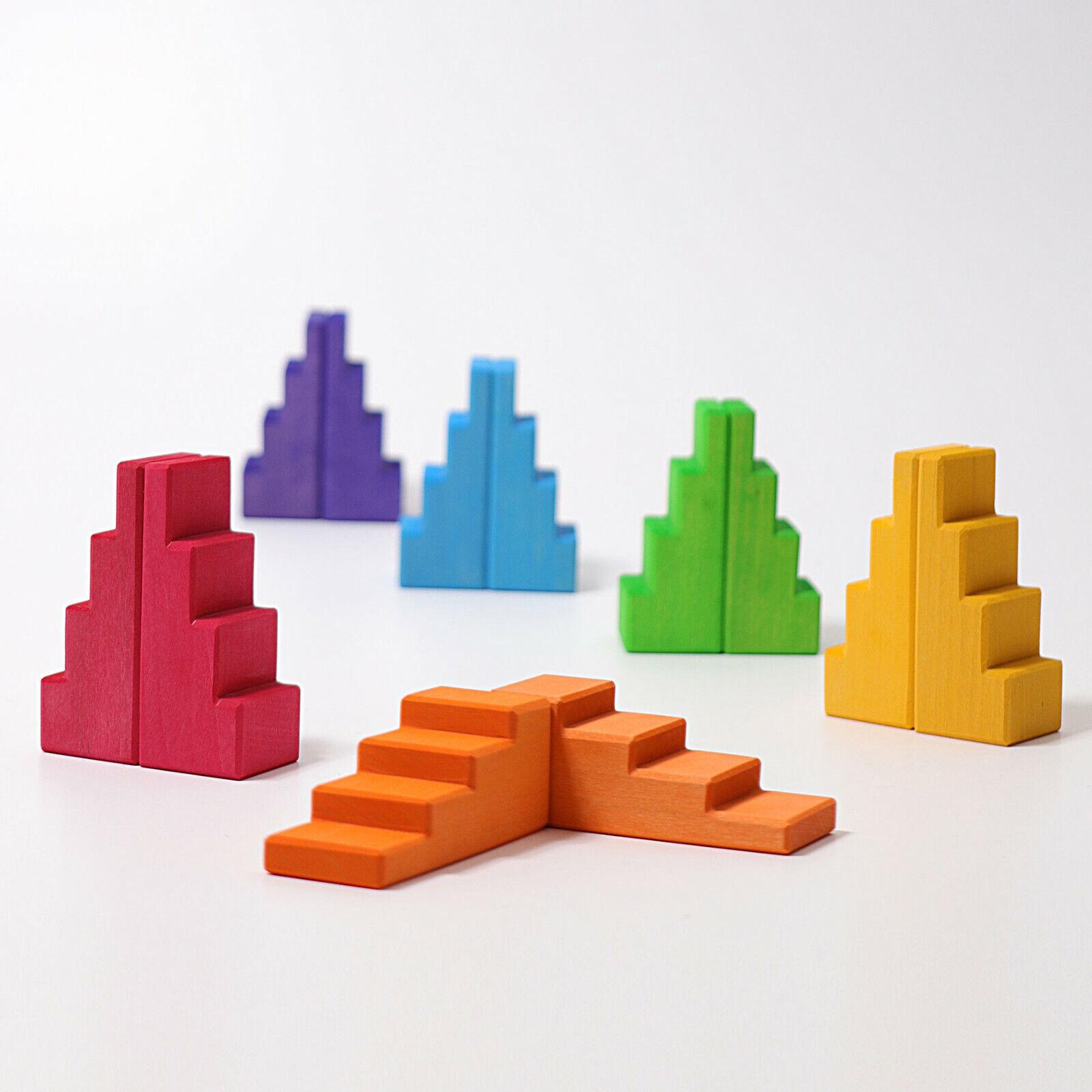 Grimm's Game and Wood Design 42098 Treppendächer Rainbow Multicolour Novelty