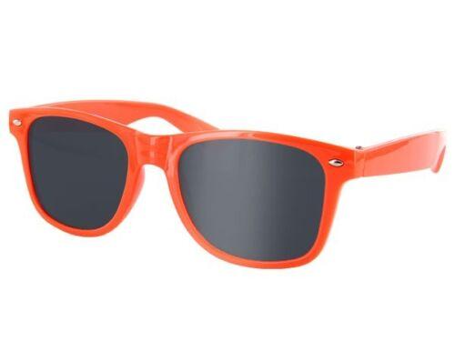 Farbige Nerd Retro Sonnenbrille Party-Brille 816F Dunkle Gläser Horn-Brille