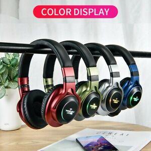 Luminous LED 008 Headband Bluetooth 4.2 Wireless/Wired Headphone NFC Wifi