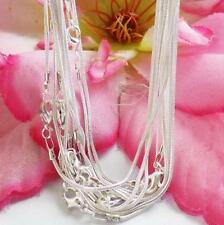 Lots 10pcs Silver Plated 1.0mm Snake Chain Necklace Jewelry Making Crafts 43cm