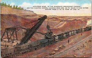 Hull Rust Mine Minnesota Arrowhead Electric Shovel iron ore train cars yard