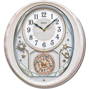 Seiko Qxm370p Melody In Motion Volume Control Wall Clock