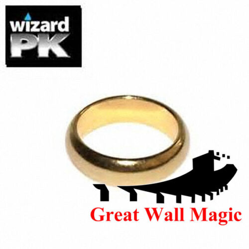 2 pcsorder G2 Gold Wizard PK Ring Magnetic Ring Magic Trick