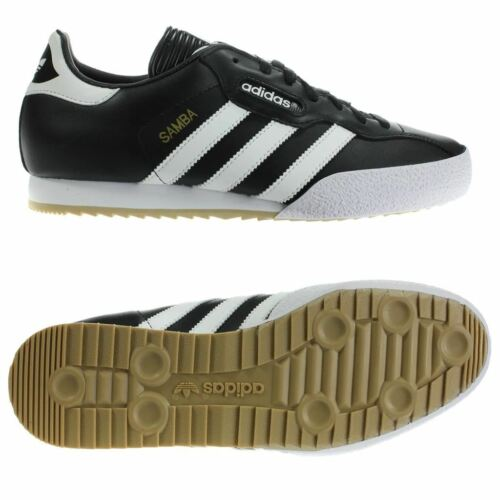 Cuir Adidas Baskets Noir Originals 7 Taille 12 Samba Super Mens nYvr65Yxqw