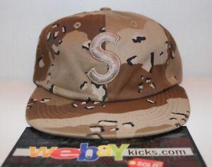 a9065ec3741 Supreme NYC Desert Camo Tonal S Logo 6 Panel Strapback Cap Hat ...