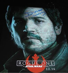DIEGO-LUNA-SIGNED-AUTOGRAPH-8x10-PHOTO-ROGUE-ONE-PROMO-IN-PERSON-COA-STAR-WARS-D