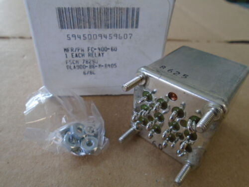 INDUSTRIAL RELAY P//N FC-400-60 1 EA NOS STRUTHERS DUNN AEROSPACE
