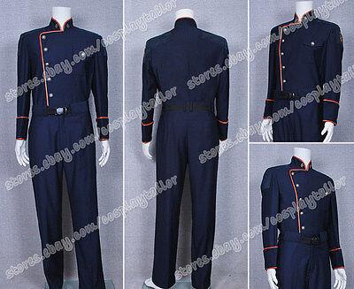 Battlestar Galactica TV Commander William Adama Uniform Costume Cosplay