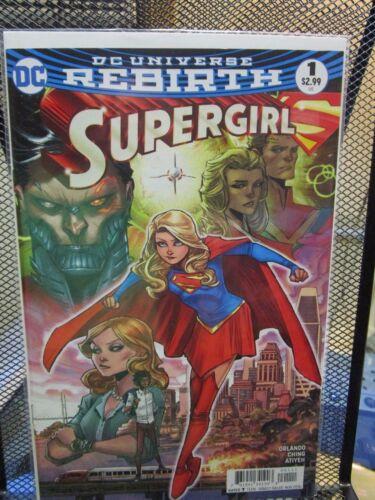 Supergirl #1 Regular Cover DC Universe Rebirth Comics Orlando Ching Atiyeh