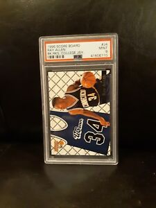 1996-SCORE-BOARD-COLLEGE-JERSEY-RAY-ALLEN-RC-PSA-9