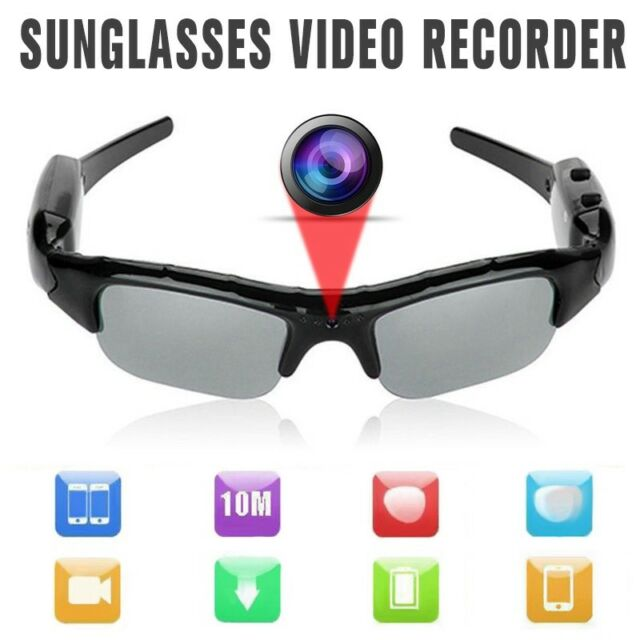 3fabc5e4dc3 HD 1080p Glasses Spy Hidden Mp3 Camera Sunglasses Eyewear DVR Video Recorder