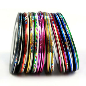 30-Color-Rollos-Striping-Tape-linea-Nail-Art-Decoracion-pegatina-Pretty-Moda-Caliente
