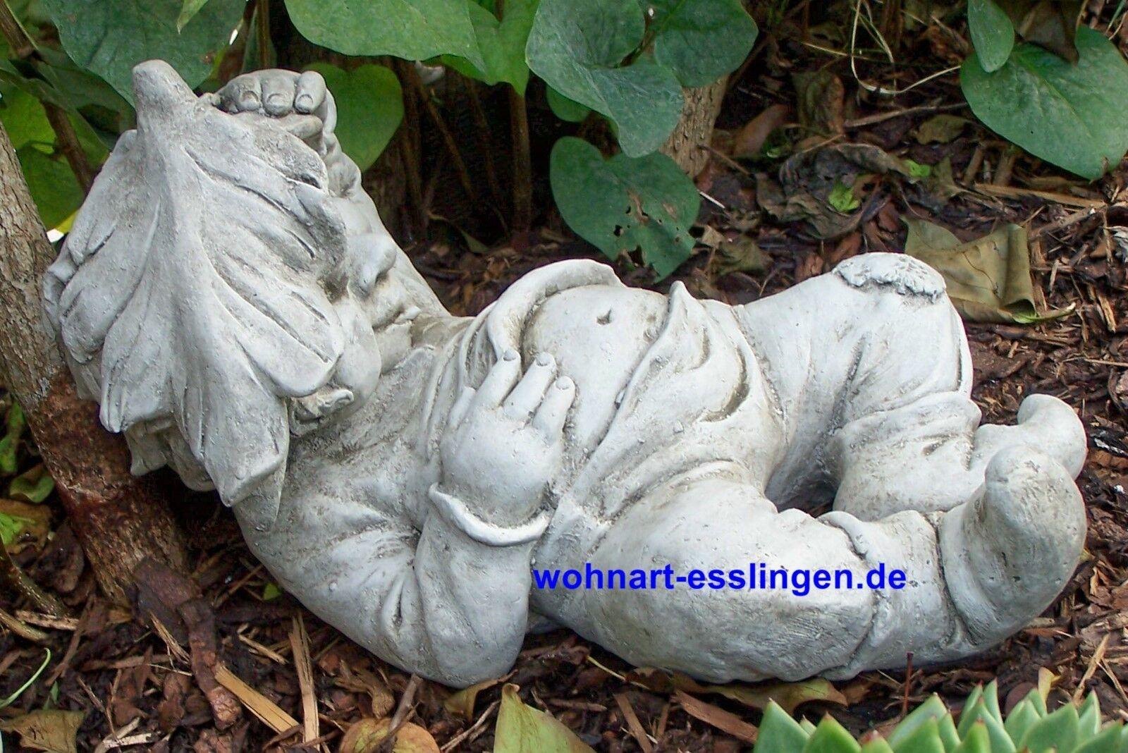 KT638 Liegender Gnom Gnom Gnom Wilhelm Pixi Steinguss Steinfigur b715b6