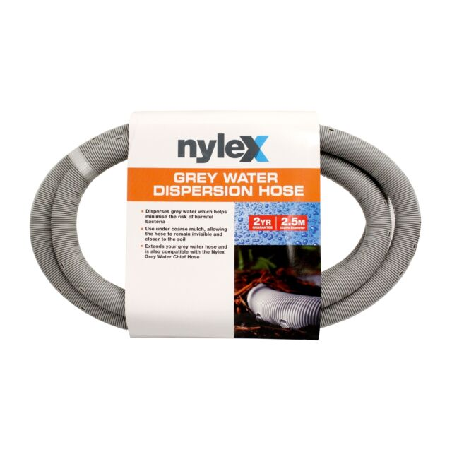 Nylex GREY WATER DISPERSION HOSE 22mmx2.5m Minimises Bacteria Risk *Aust Brand