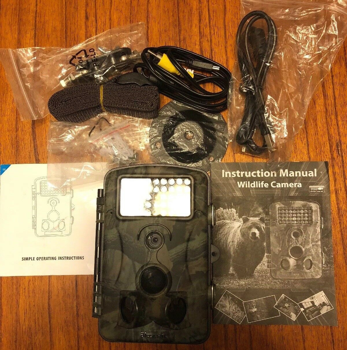 Trail Hunting Camera bluesmart Wildlife Camera 12MP 1080P HD With Time Lapse