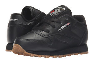Reebok-Classic-Leather-Black-Gum-Toddler-Kids-Sneakers-Tennis-Shoes-V69625