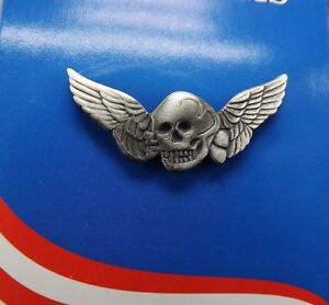 BRAND-NEW-Lapel-Pin-Pewter-Death-Wing-Skull-1-1-4-034