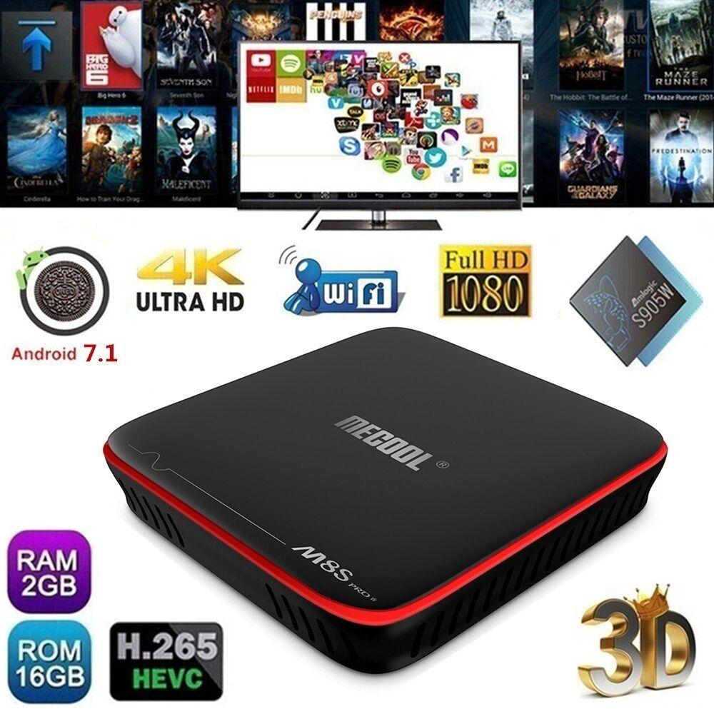 M8S PRO Android 7.1 3+32GB Octa Core Smart TV BOX 4K 3D 1080P WIFI Media MINI PC
