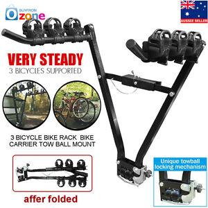3 Bicycle Bike Car Rear Rack Bike Carrier Suv Holder Tow Ball