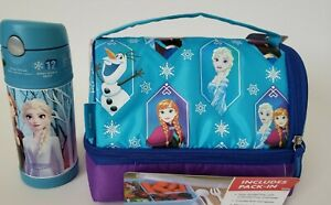 Frozen Thermos  Dual Compartment insulated Lunch Bag/Kit  With 12 oz  Funtainer
