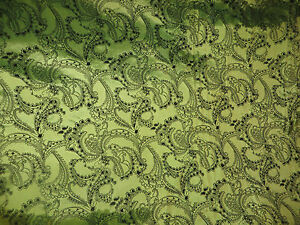 "1M OLIVE GREEN TAFFETA  FABRIC 58/"" WIDE"