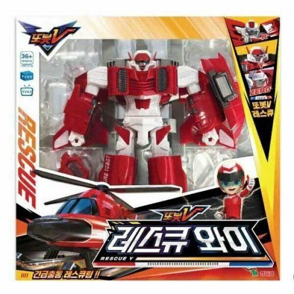 Tobot V sauvetage y Hélicoptère Transformer Robot Tokey Animation Action Toy