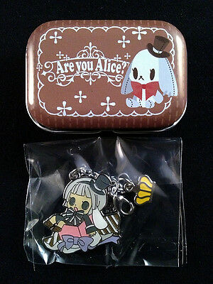 Are you Alice? Fastener Accessories Metal Charm & Can Case Movic White Rabbit