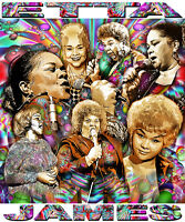 Etta James Tribute Long Sleeve T-shirt Or Print By Ed Seeman