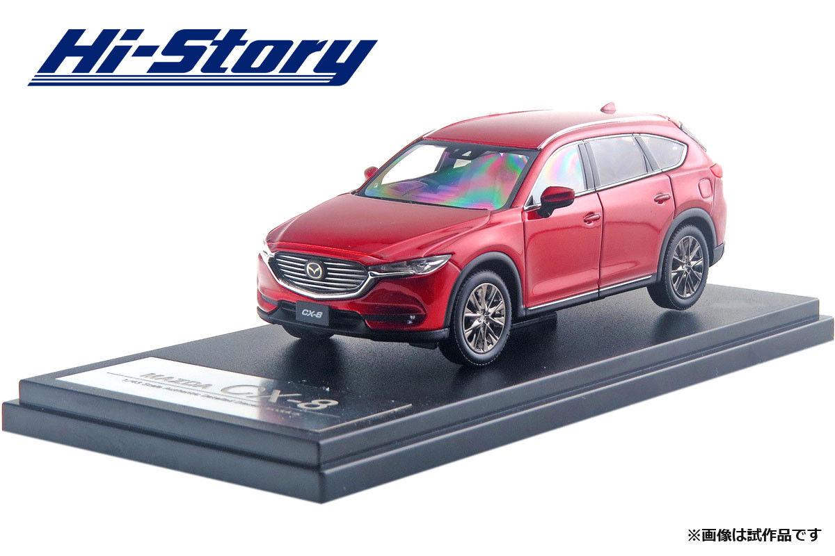 1 43 Hi-Story MAZDA CX-8 (2017) Soul Red Crystal Metallic HS213RE NEW