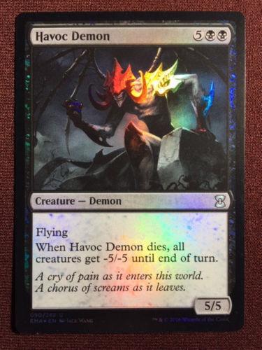 FOIL Havoc Demon ETERNAL MASTERS MTG ~~~~~~~~~~~ NEAR MINT UNPLAYED