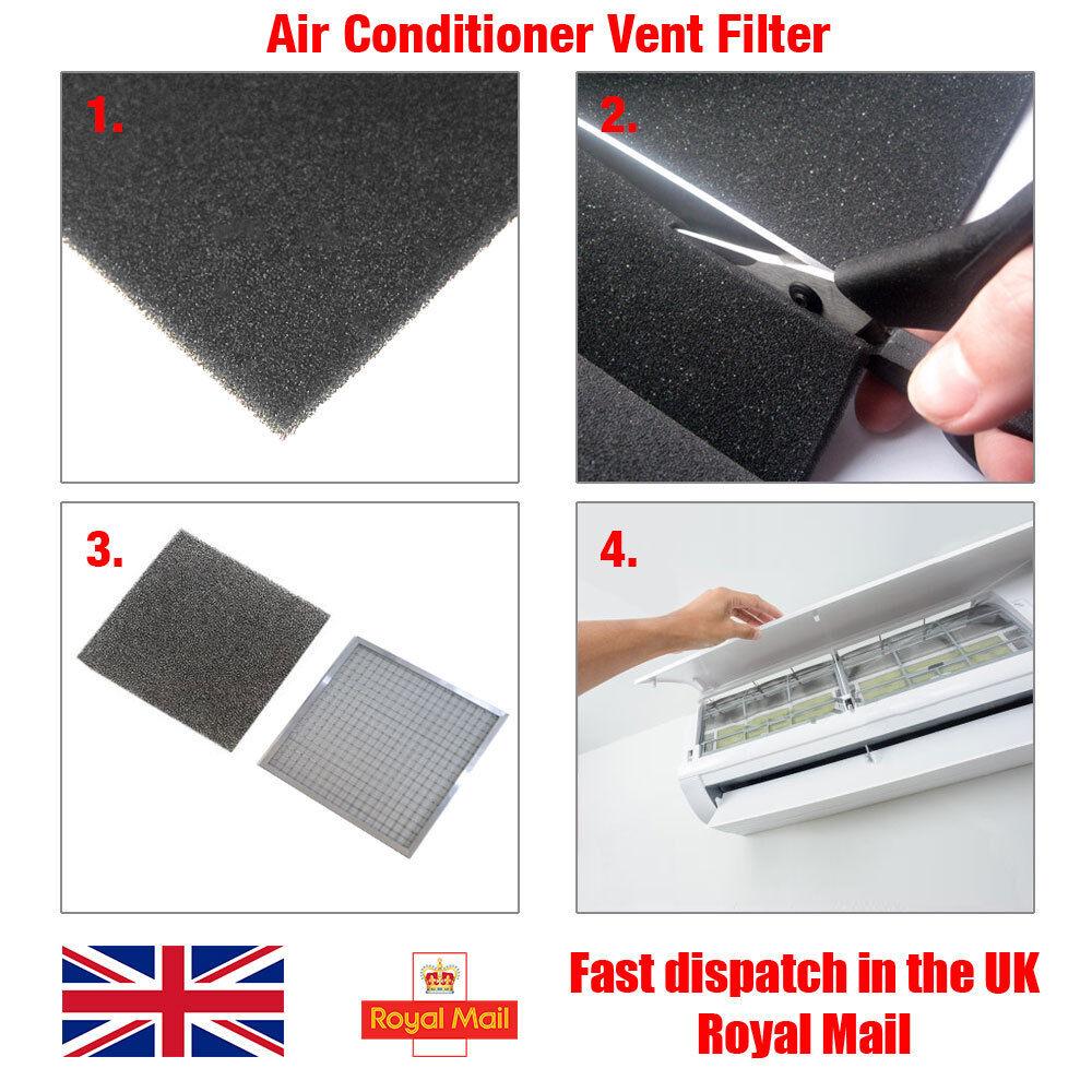 Légkondicionáló ventilátor porvédő szűrő hablap 3mm vastag, 25cm x 25cm (625cm²)