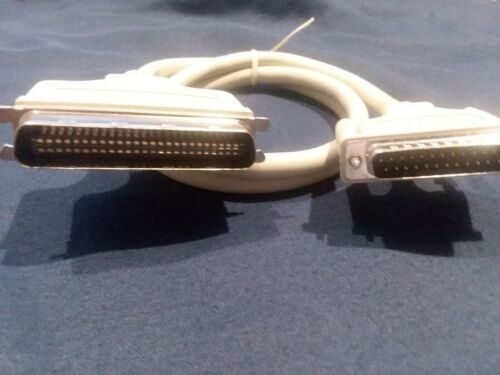 "Lot 2 DB-25 to Centronic 50 SCSI Cable 36/"" long SCSI Hard Drive Scanner ext case"