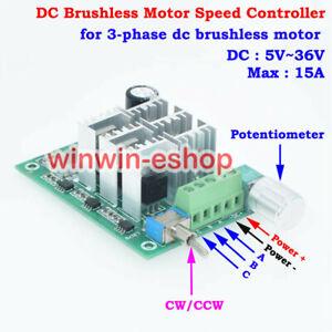 CW CCW Motor Speed Controller Switch DC 5V 12V 24V 3-Phase Brushless Reversible