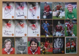 Oficial-Manchester-United-Retrato-Firmado-Del-Club-Tarjetas-Individual-Precio